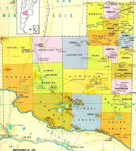 Mapa Provincia La Pampa