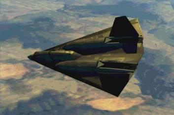 Vue d'artiste du A-17 Stealth X plane