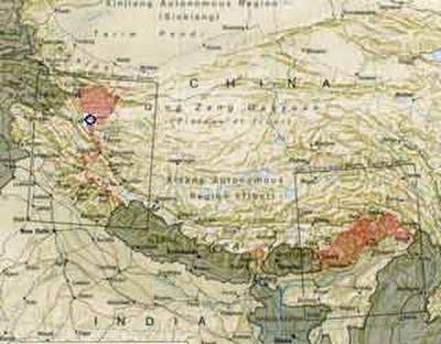 Des bases ovni sous-terraines dans l'Himmalaya China-indiamap_400x312