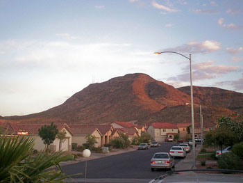 McCullough Range above Henderson, Nevada. Wikipedia image.