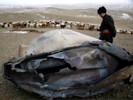 Deux objets s'écrasent en Mongolie Mongolia1