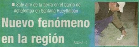 Phénomène de Hidalgo, Mexique Periodico_ruta