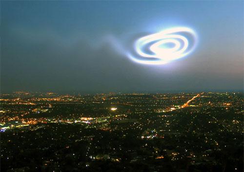 Spirale dans le ciel ouest canadien - Un Hoax de plus !!! (1/2)
