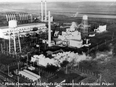 Ovnis au dessus de l'usine de plutonium de Hanford Hanfordplutoniumplantaerialviewmed