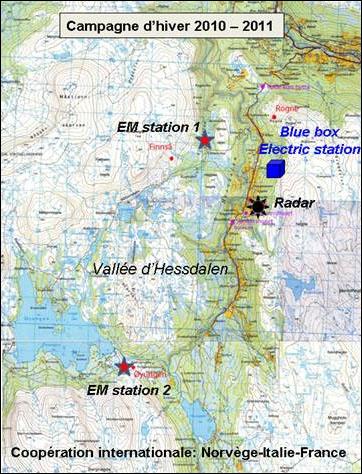 Campagne scientifique d'analyse des phénomènes lumineux observés dans la vallée d'Hessdalen en Norvège 101129_hessdalen-map