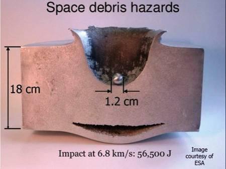 La poussière spatiale peut tuer des satellites en formant du plasma Rtemagicc_hypervelocite_impact_2_esa_txdam35391_b48873