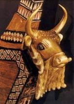 Sumer-une harpe très ouvragée, en or