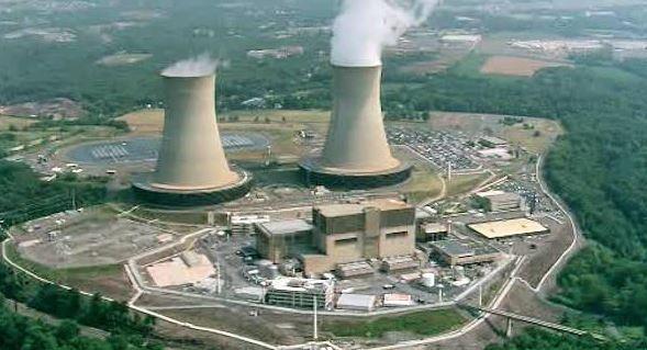 Ovni près de la centrale nucléaire de Limerick en Pennsylvanie Capture