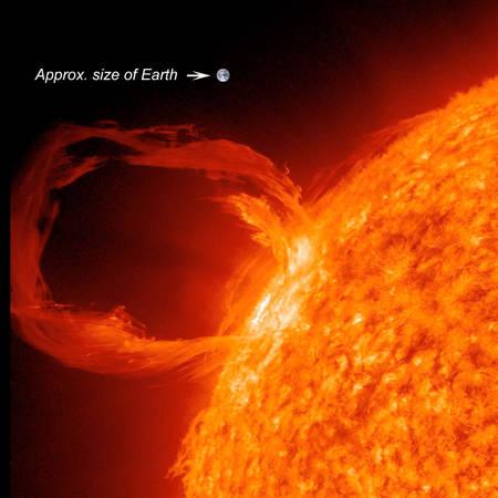L'activité solaire se traduit par une diversité de phénomènes énergétiques variant de façon cyclique, en fréquence et en intensité, comme le montre cette spectaculaire éruption solaire survenue en mars 2012. L'ampleur de ces phénomènes rend nécessaire la mise au point de systèmes de prédiction en raison du risque qu'ils font peser sur bon nombre d'activités spatiales ou terrestres. © SDO Science Team, Nasa