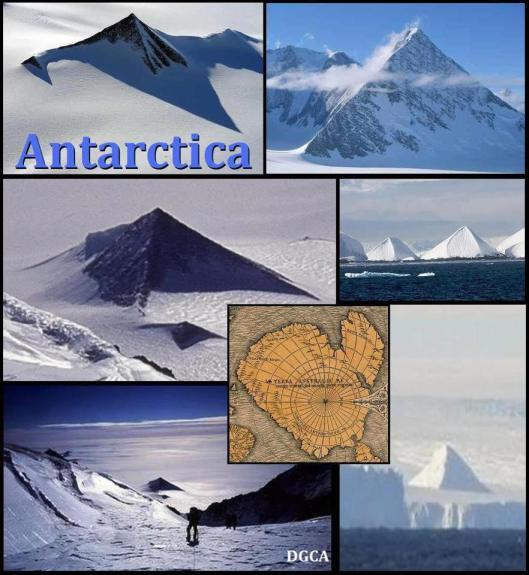 antarctique - Trois pyramides retrouvées en Antarctique ? Antartica