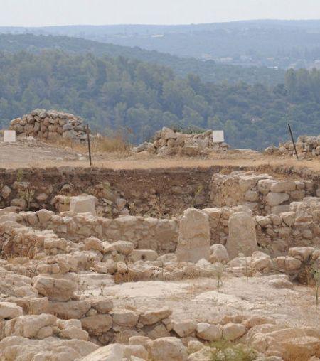 Le site de fouilles où ont retrouvés les restes du palais du roi David
