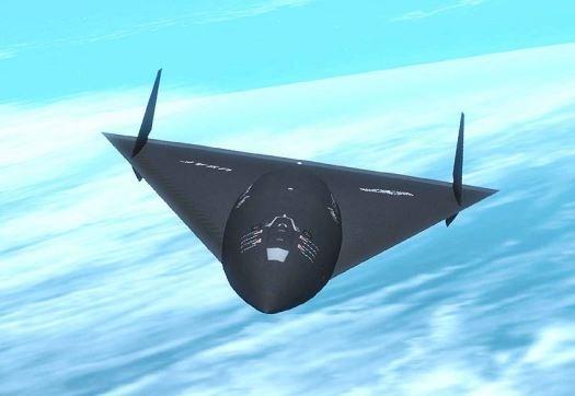 l'hypothétique « projet noir », le SR-91 Aurora (vue d'artiste). image source :Ovni-Direct