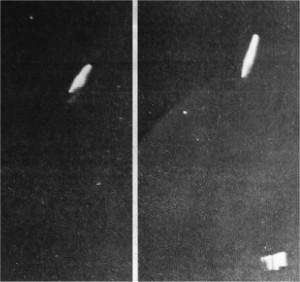 Deux photos prises par Liu Kuanxin, le 24 juillet 1981 à 22h35 dans la gorge de Longyangxia, au Qinghai.