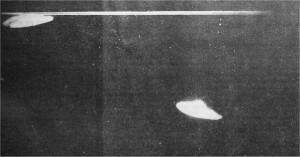 Un OVNI, photo d'observation à Taïwan le 1er août 1973.