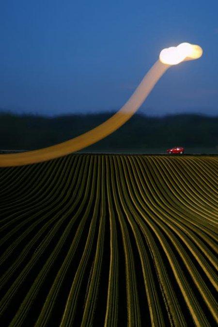 Les phénomènes lumineux ont été observés vers 19 heures vendredi. Photo d'illustration Max PPP