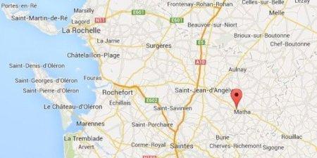 Une curieux phénomène a été observé à Blanzac-lès-Matha en Charente-Maritime. © PHOTO CAPTURE D'ÉCRAN GOOGLE MAPS