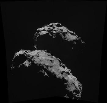 """La photo de la comète """"Chury""""  crédit:(DR / ESA)"""