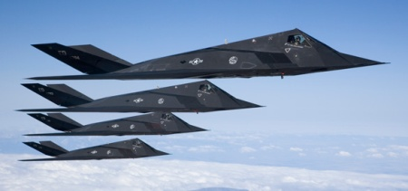 F-117 Nighthawks (Credit: US Air Force)
