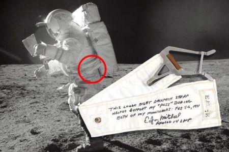 Edgar Mitchell marche sur la Lune en 1971